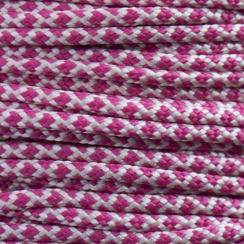 Paracord 425 cream fuchsia diamonds