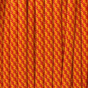 Paracord 550 orange rot Meterware