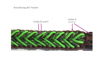 Set Halsband Waterfall 3-farbig, Paracord 425