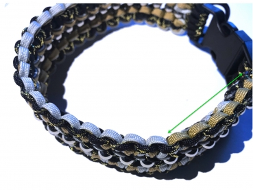 "Hundehalsband ""Helmy´s First"", Paracord 550"