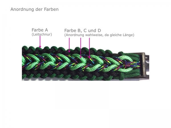Set Halsband Wide Sanctified 4-farbig, Paracord 425