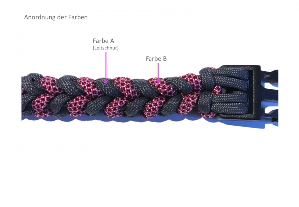 Set Halsband River Bar, 2-farbig, Paracord 550