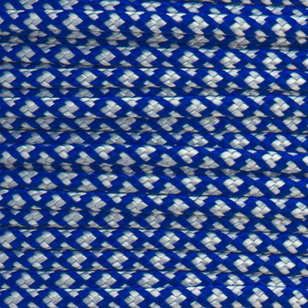 Paracord 425 electric blau silber diamonds Meterware