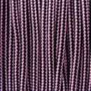 Paracord 425 rosa stripes Meterware